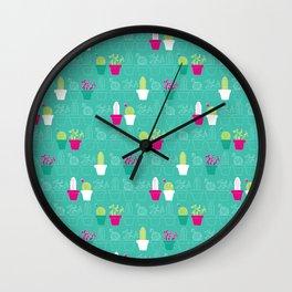 Mini Cactus Love Wall Clock