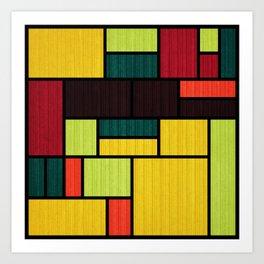 Mondrian Bauhaus Pattern #09 Art Print