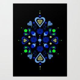 I heart acorns Art Print