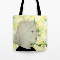 emily rickard Tote Bags featuring Emily by Teri Martin