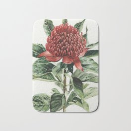 Waratah Flower Bath Mat