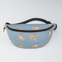 Girls Playing with Goldfish Fanny Pack