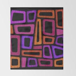 Palm Springs Nights - Modern Tiki Throw Blanket