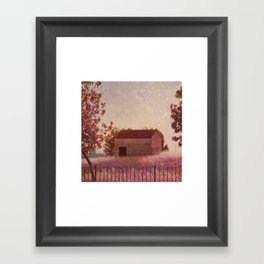 La casita Framed Art Print