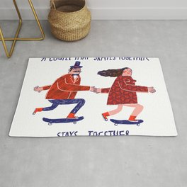 skate couple Rug