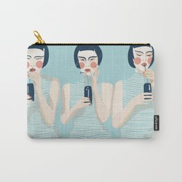 Three Girls in Blue Carry-All Pouch