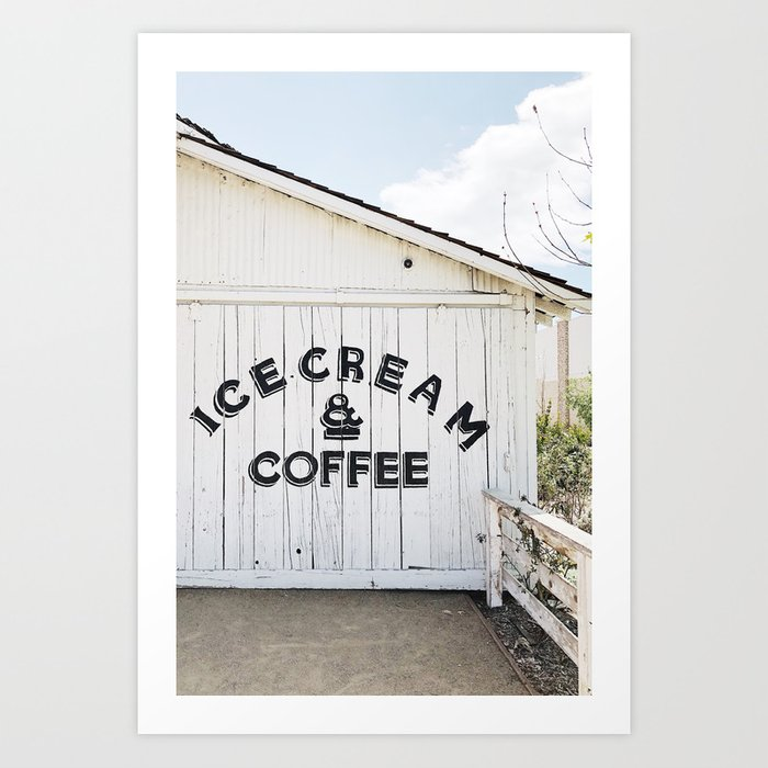 Ice Cream & Coffee Art Print