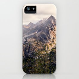 Moody Autumn Mountain in the North Cascades iPhone Case