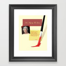 Her Majesty The Queen Framed Art Print