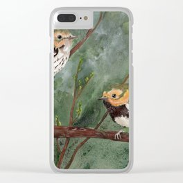 Black-throated Green Warbler Birds Spring Clear iPhone Case