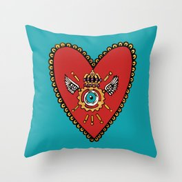 Sacred SteamHeart Throw Pillow