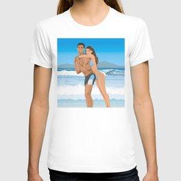 Boy and girl on the beach T-shirt