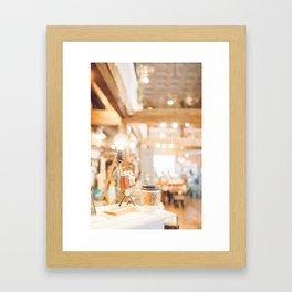 Coffee Shop and Camera Framed Art Print
