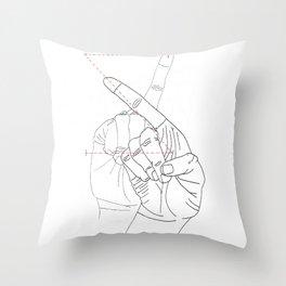sign language Z Throw Pillow