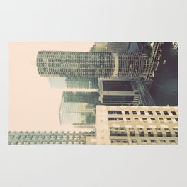 Chicago River Marina Tower Color Photo Rug