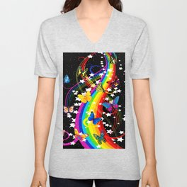Butterfly Rainbow Unisex V-Neck