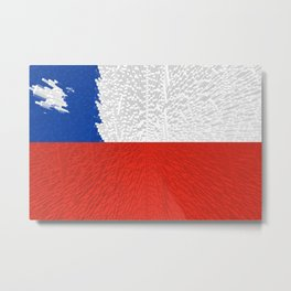 Extruded Flag of Chile Metal Print