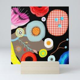 Floral Black Meadow London Mini Art Print
