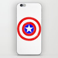 agents of shield iPhone & iPod Skins featuring Shield (W) by Luca Draws