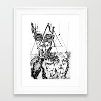 sandra dieckmann Framed Art Prints featuring sandra by Valeria Pomidoro
