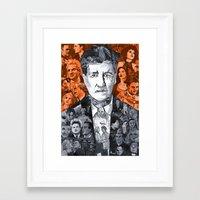 lynch Framed Art Prints featuring Lynch  by Matthew Brazier Illustration