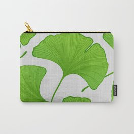 Green Ginkgo Leaf Pattern Carry-All Pouch