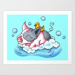 Bath Time! Art Print