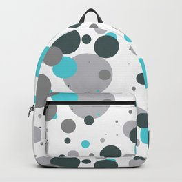 Modern Turquoise, Green and Grey Circle Pattern Backpack
