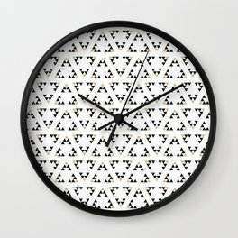Black and White Triangles Manchester Architecture Collection Wall Clock