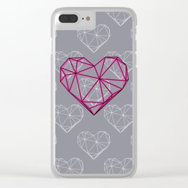 Caged Heart Clear iPhone Case