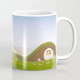 I - Easter bunny with a basket and Easter eggs Coffee Mug