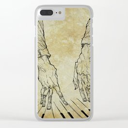 Hand of the pianist Clear iPhone Case