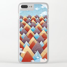 Abstract Adventurous Mountain Art Clear iPhone Case