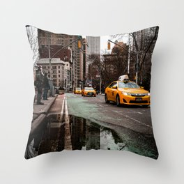 23rd Street Puddles Throw Pillow