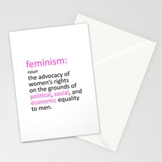 Feminism Defined Stationery Cards