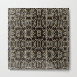 Dark Lines Art Deco Metal Print