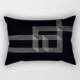 Squares and Lines No. 03 Black Rectangular Pillow