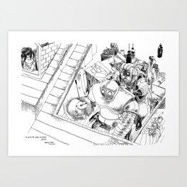 Un Voisin pas comme les Autres / An Unusual Neighbour Art Print