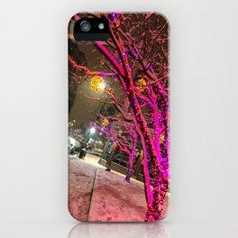 Longfellow Square Christmas Lights (1) iPhone Case