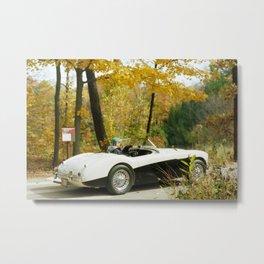 Fall Sports Car Metal Print