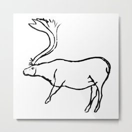 French Paleolithic deer Metal Print