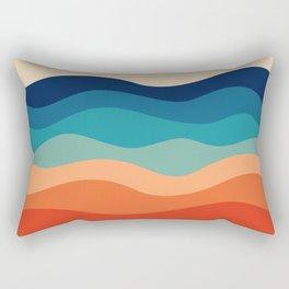 Retro 70s Waves Rectangular Pillow