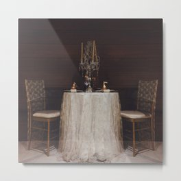 The Romance of a Table for Two Metal Print