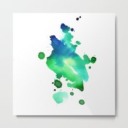 watercolor green 1 Metal Print
