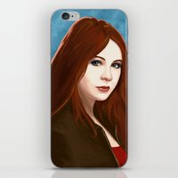 amy pond iPhone & iPod Skins featuring Amy Pond by MODBLOT: Art of Dan Marek
