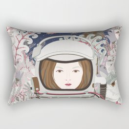 Lady Astronaut Rectangular Pillow
