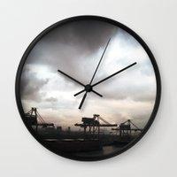industrial Wall Clocks featuring industrial II. by zenitt