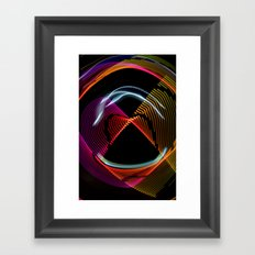 Experiments in Light Abstraction 1 Framed Art Print