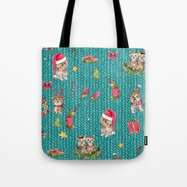 A Very Yorkie Christmas Tote Bag