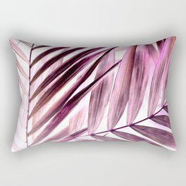Purple leaves tropical pattern Rectangular Pillow